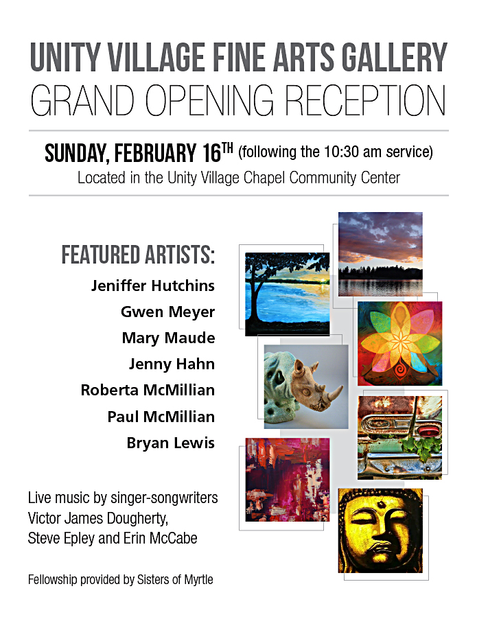 unity village fine arts gallery grand opening