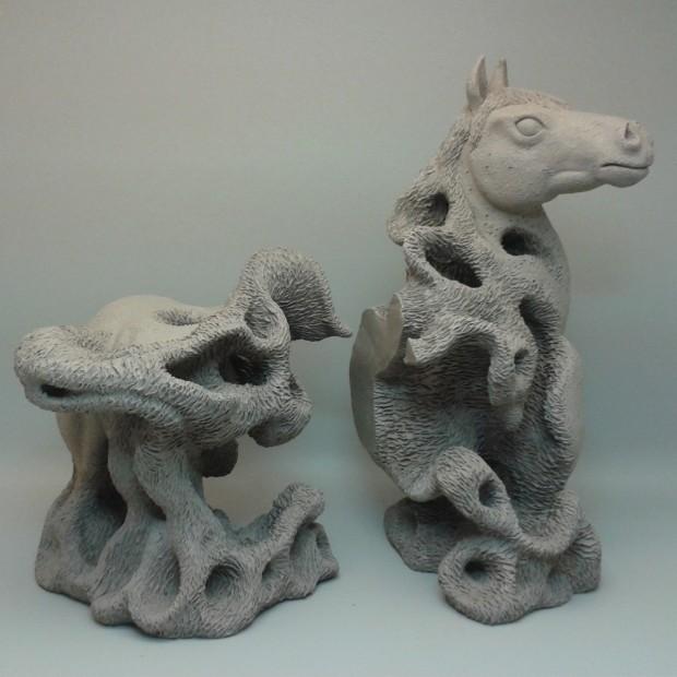 horse bookends sculpture