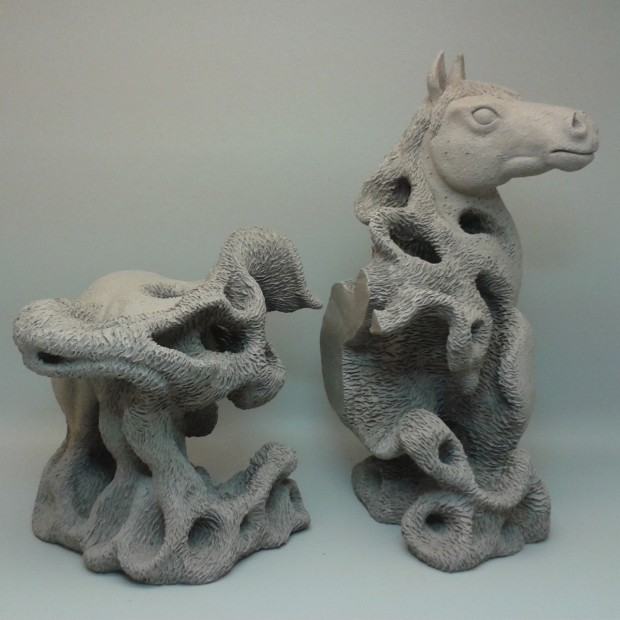 horse bookends sculpture